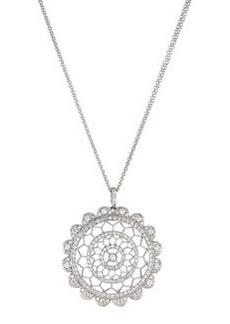 Luca Carati Circle Pendant Necklace with Diamonds