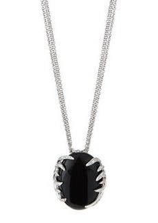 Luca Carati Oval Pendant Necklace with Onyx & Diamonds