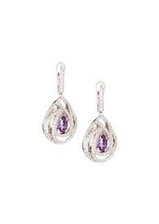 Luca Carati Pavé Diamond & Amethyst Drop Earrings
