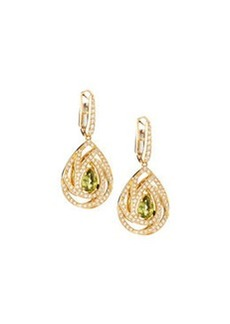 Luca Carati Pavé Diamond & Peridot Drop Earrings