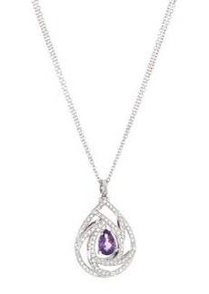 Luca Carati Pavé Diamond and Amethyst Pendant Necklace