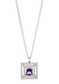 Luca Carati Square Pendant Necklace with Amethyst & Diamonds