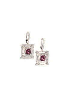 Luca Carati Tourmaline & Diamond Drop Earrings
