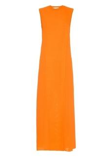 Lucas Nascimento Double-layer wrap stretch-knit dress