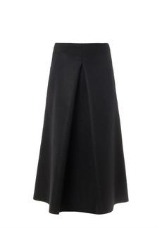 Lucas Nascimento Pleat-front midi skirt