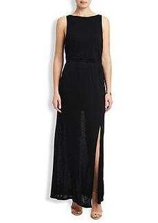 BLACK KNIT MAXI DRESS