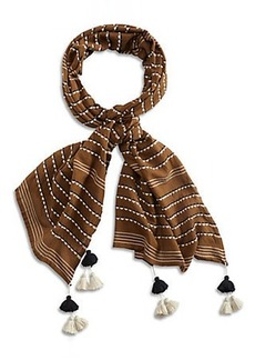 DOTTED EMBROIDERED SCARF
