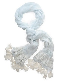 EMBROIDERY LACE SCARF