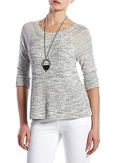 FABRIC MIXING PULLOVER