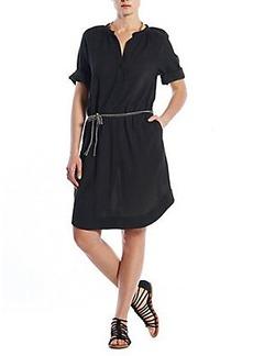 HENLEY SHIRT DRESS