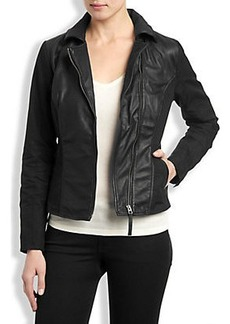 LEATHER MIXED JACKET