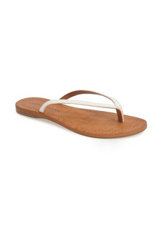Lucky Brand 'Amberr' Leather Thong Sandal (Women)