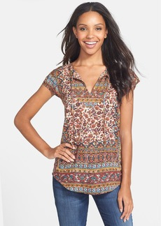 Lucky Brand 'Autumn' Embellished Print Top