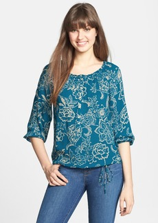 Lucky Brand 'Avalynn Gardens' Peasant Top