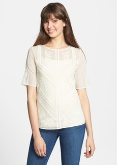 Lucky Brand 'Avery' Mixed Lace Top