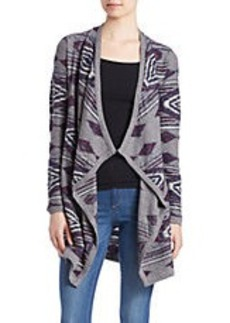 LUCKY BRAND Aztec Open-Front Wrap Cardigan