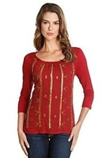 Lucky Brand® Beaded Knit Top