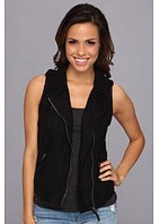 Lucky Brand Black Moto Vest