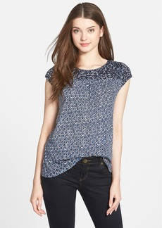 Lucky Brand 'Blue Diamond' Embroidered Top