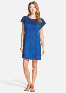Lucky Brand Blue Embroidered Shift Dress