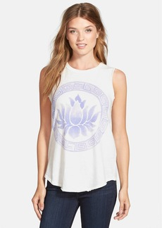 Lucky Brand 'Blue Lotus' Graphic Tee