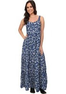 Lucky Brand Blue Vines Maxi Dress
