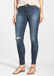 Lucky Brand 'Brooke' Ripped Knee Skinny Jeans (Livingston)