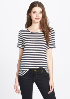 Lucky Brand Button Back Stripe Tee