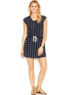 Lucky Brand Cap-Sleeve Scoop-Neck Striped Shift