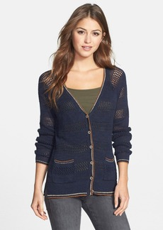 Lucky Brand 'Carmine' Open Weave Cardigan (Online Only)