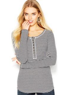 Lucky Brand Catrina Long-Sleeve Striped Thermal Tee
