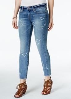 Lucky Brand Charli Printed Topanga Beach Wash Cropped Jeans