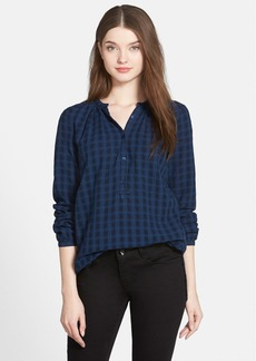 Lucky Brand Check Jacquard Tunic Shirt