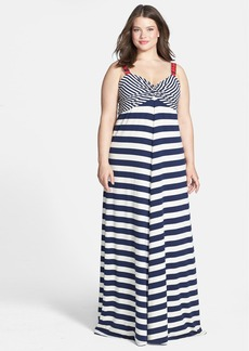 Lucky Brand Chevron Stripe Maxi Dress (Plus Size)