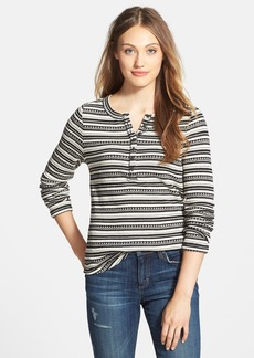 Lucky Brand 'Chloe' Stripe Thermal Henley Tee