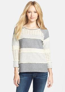 Lucky Brand Crochet Panel Pullover
