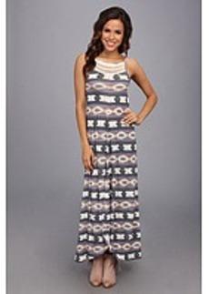 Lucky Brand Crochet Tribal Maxi Dress