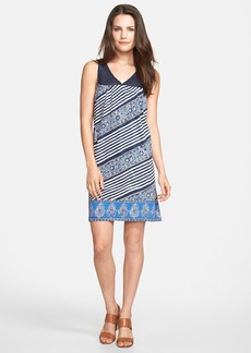 Lucky Brand Crochet Yoke Stripe Print Dress