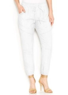 Lucky Brand Cropped Linen-Blend Soft Pants