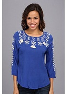 Lucky Brand Dazzling Embroidered Top