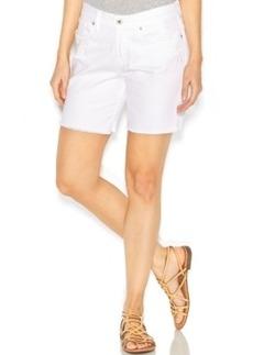 Lucky Brand Denim Cutoff Bermuda Shorts, White Wash