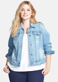 Lucky Brand 'Dixie' Denim Jacket (Plus Size)