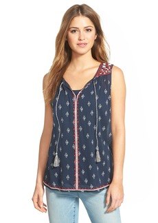 Lucky Brand 'Dotted Diamond' Sleeveless Top