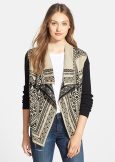 Lucky Brand Double Knit Cotton Cardigan