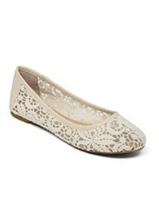 """Lucky Brand® """"Eartha"""" Flats with Lace Detailing"""
