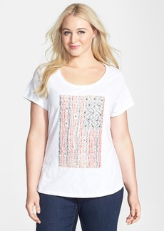 Lucky Brand Embellished Flag Tee (Plus Size)