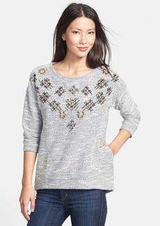 Lucky Brand Embellished Pullover