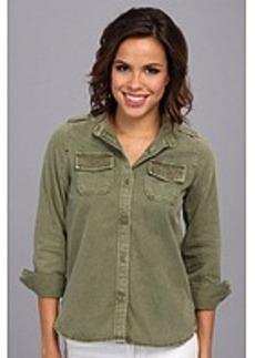 Lucky Brand Embellished Shirt Jacket