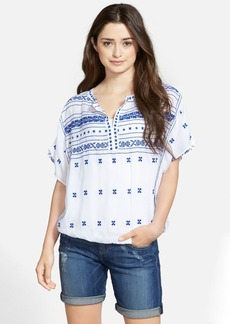 Lucky Brand Embroidered Boho Top