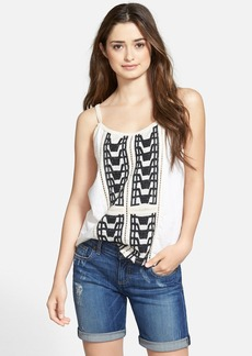 Lucky Brand Embroidered Lace Trim Tank